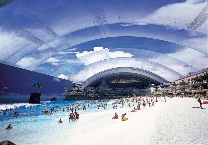Самый большой бассейн в мире. Ocean Dome, Япония.