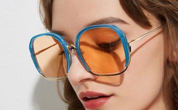Солнцезащитные очки с цветной оправой